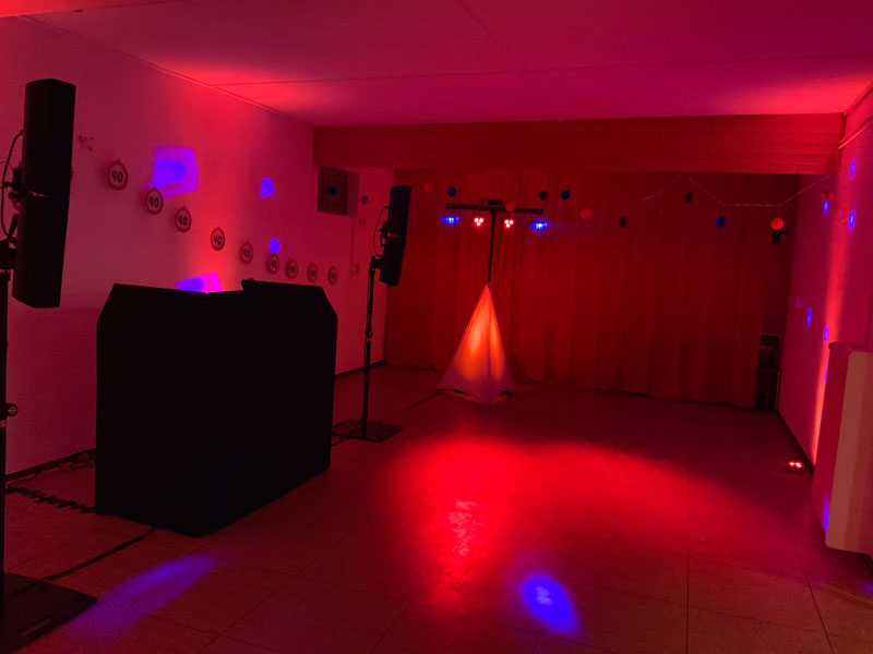Mein Setup bevor die Party so richtig losgeht.